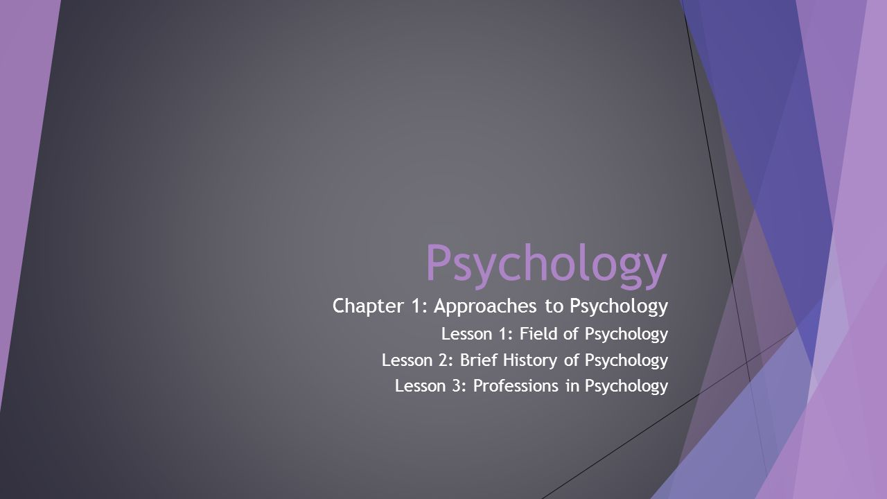 chapter 1 psych
