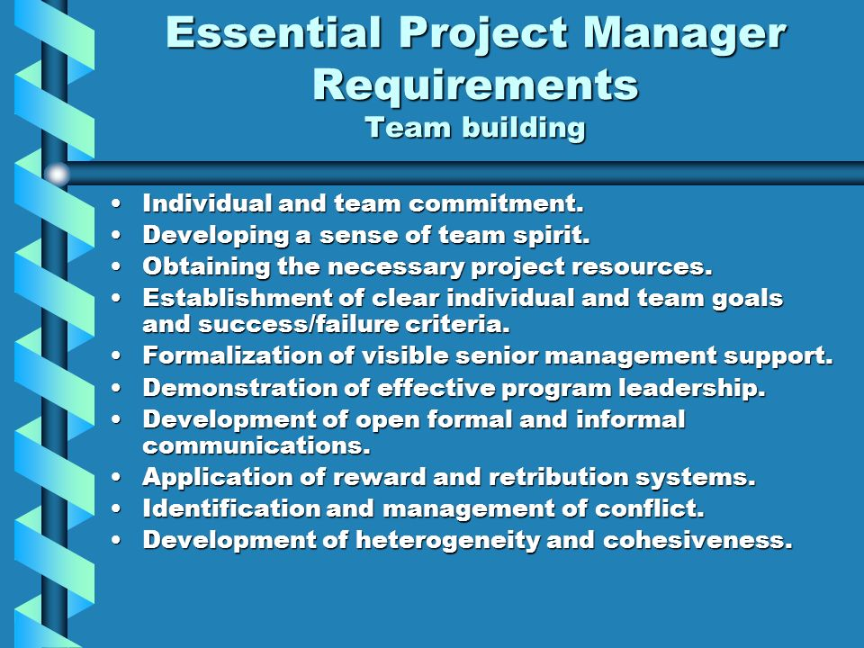 the necessary skills required for successful project management in an organization What are the project management skills needed to be successful  to stay  organized without having time management skills – so add this.