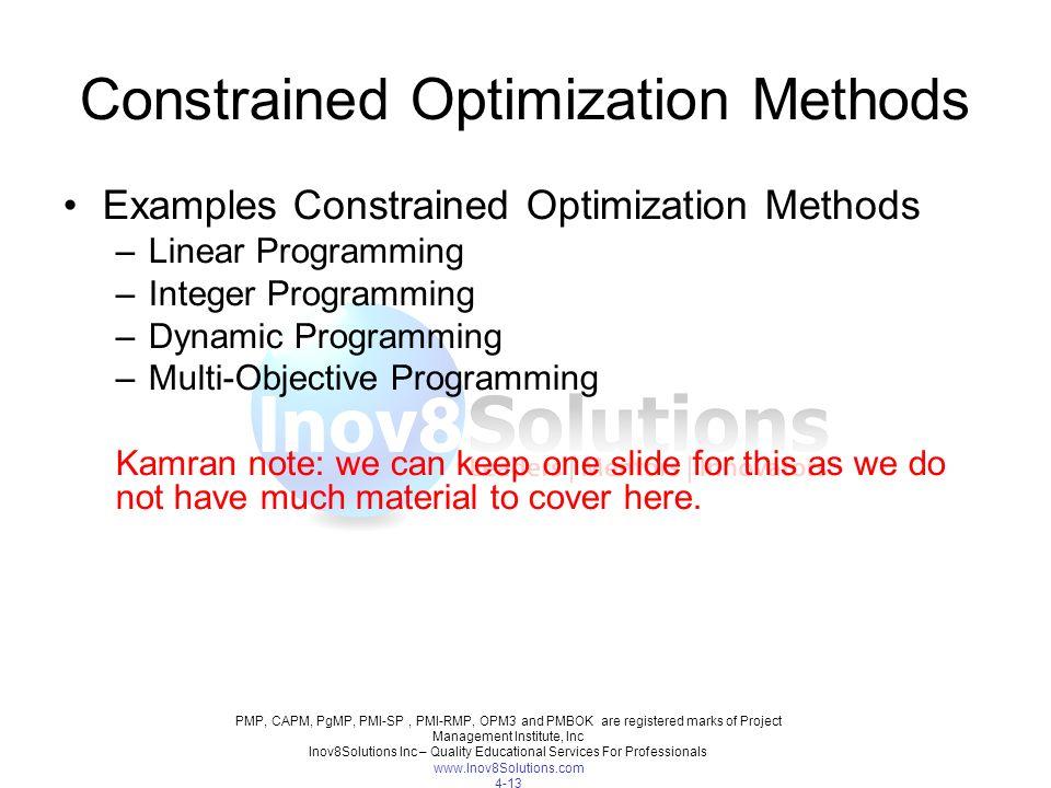 Benefit Measurement Method | Constrained Optimization Method