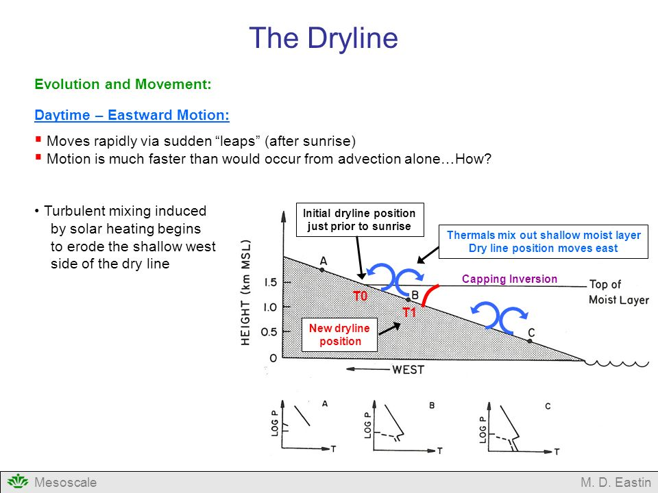 The Dryline Evolution and Movement: Daytime – Eastward Motion: