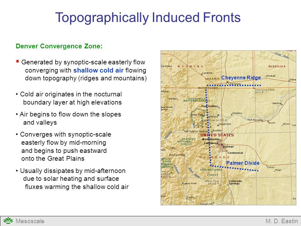 Topographically Induced Fronts