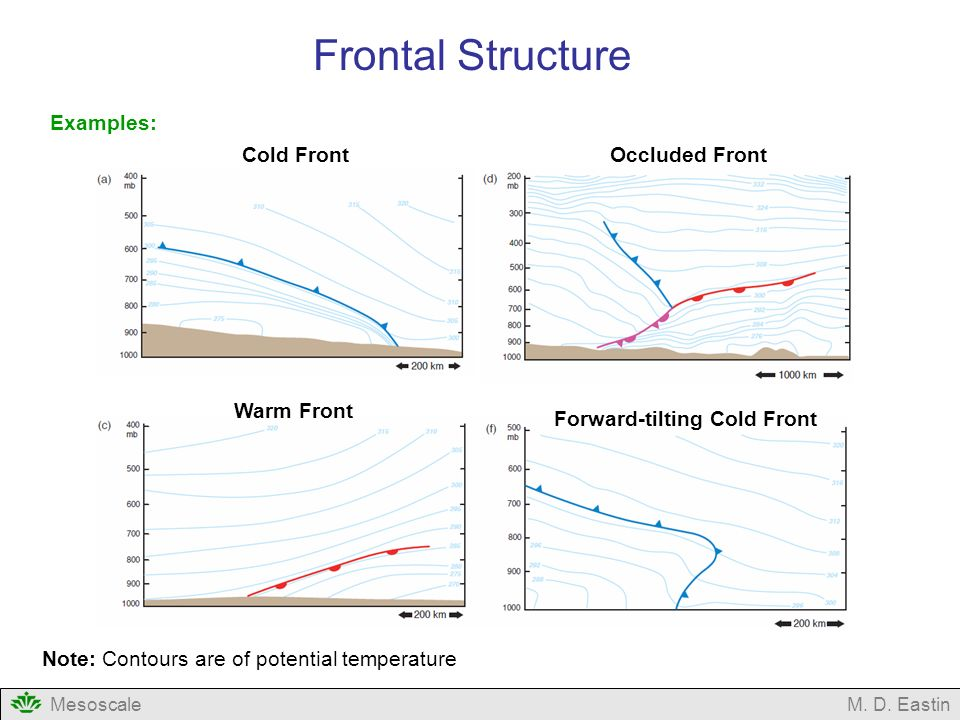 Frontal Structure Examples: Cold Front Occluded Front Warm Front