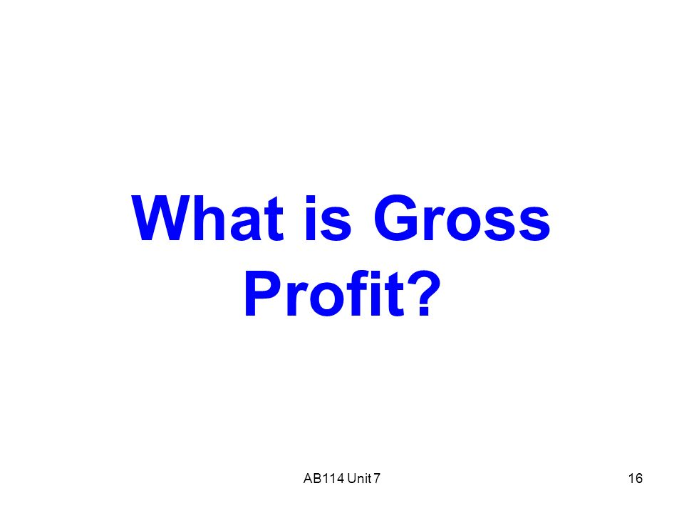 gross and net profit for unit To understand the difference between gross profit and net profit we need to first understand them individually gross profit is the difference between total.