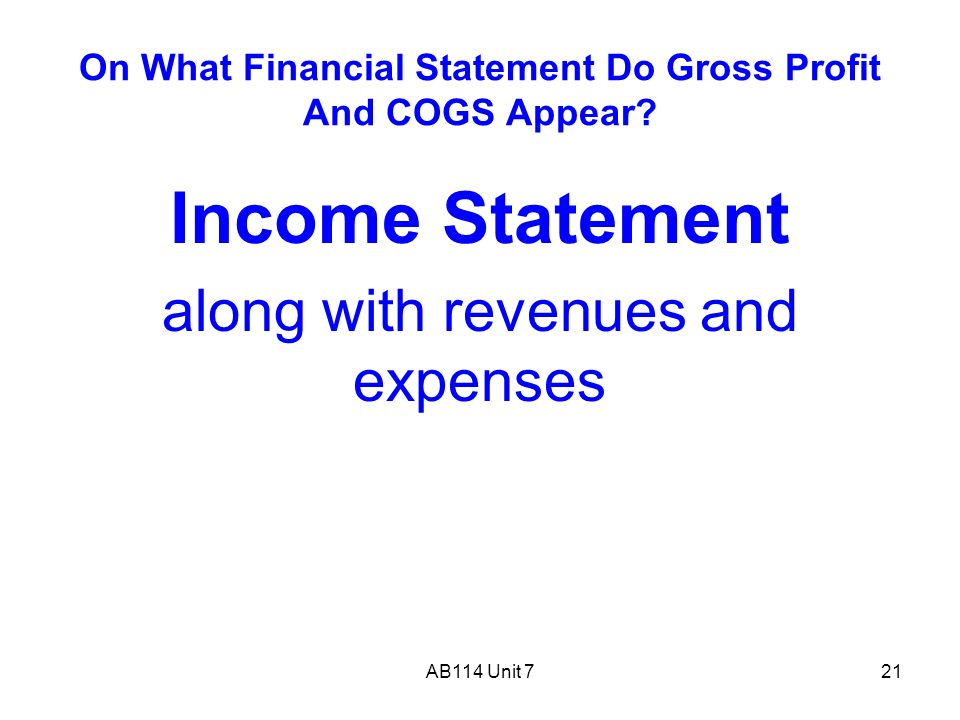 gross and net profit for unit The difference between gross profit margin and so what is the difference between gross profit and net profit and how can which push up the cost per unit.