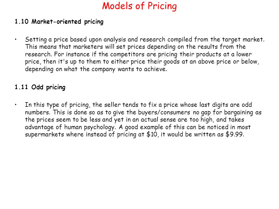 pricing research in marketing pdf