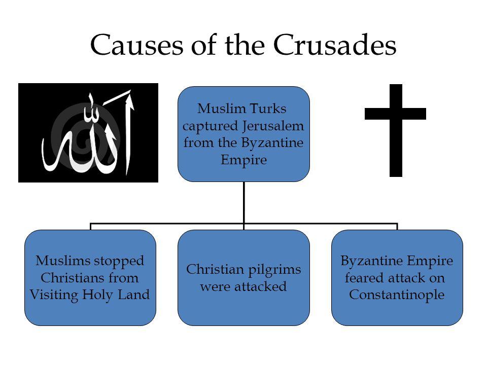 Causes of the Crusades Muslim Turks captured Jerusalem