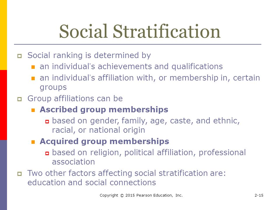 The effects of social stratification in south africa
