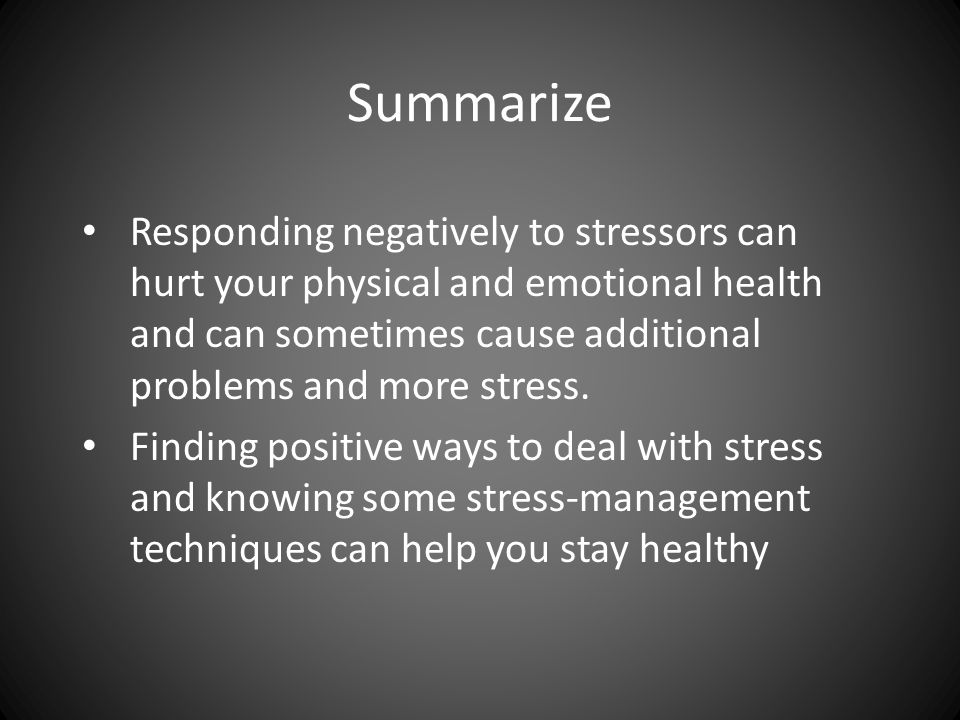 a summary on stress management Quizlet provides stress management chapter 1 activities, flashcards and games start learning today for free.