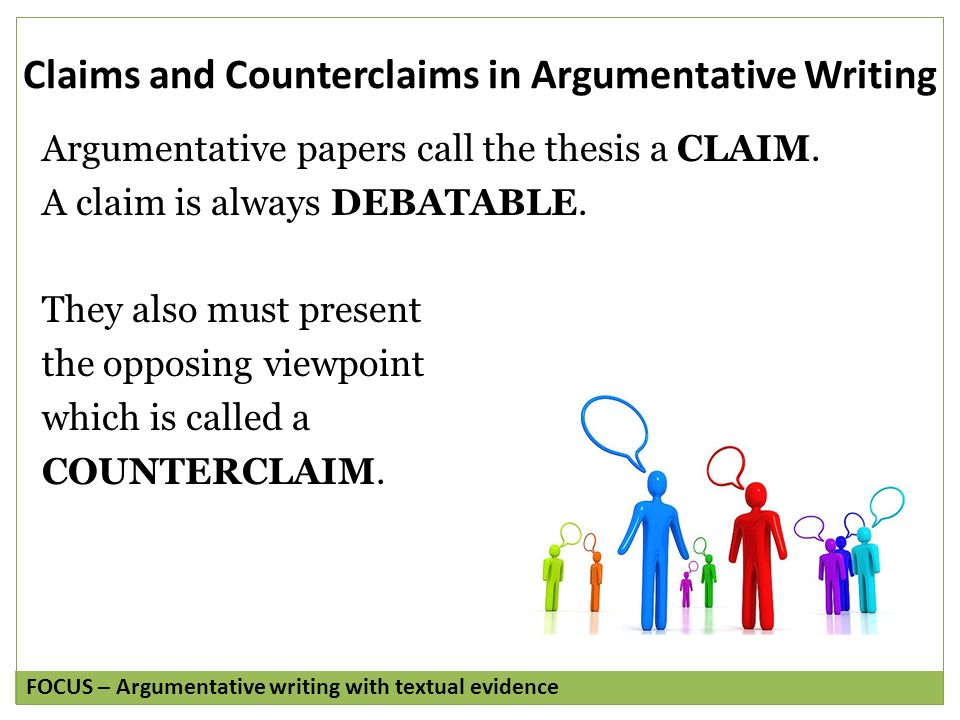 essay counterclaim