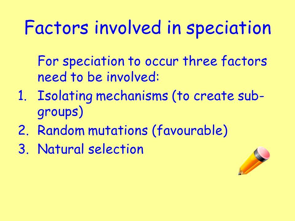 Three Factors Of Natural Selection