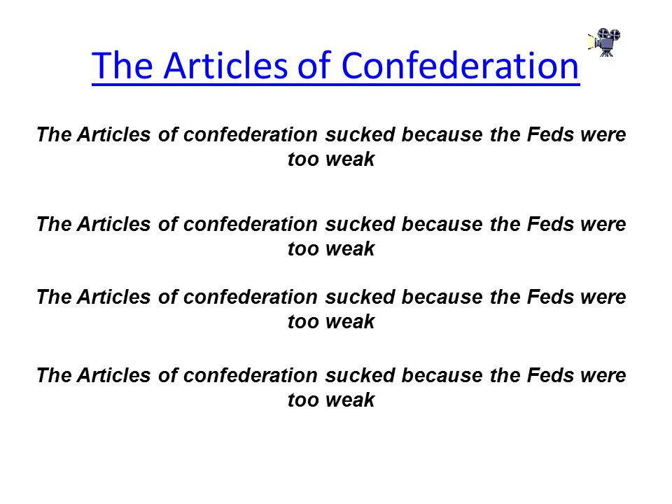 Question- Articles of Confederation: - Essay Example