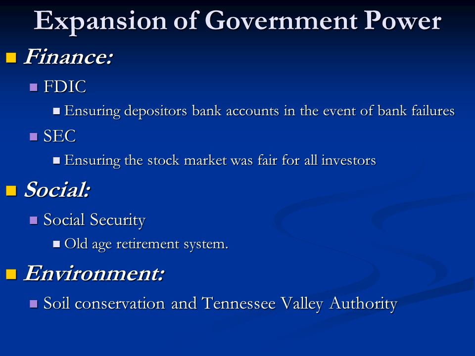 expansion of government power An essay or paper on government power on the civil war and reconstruction expansion of government power during the civil war and reconstruction contrary to what i.