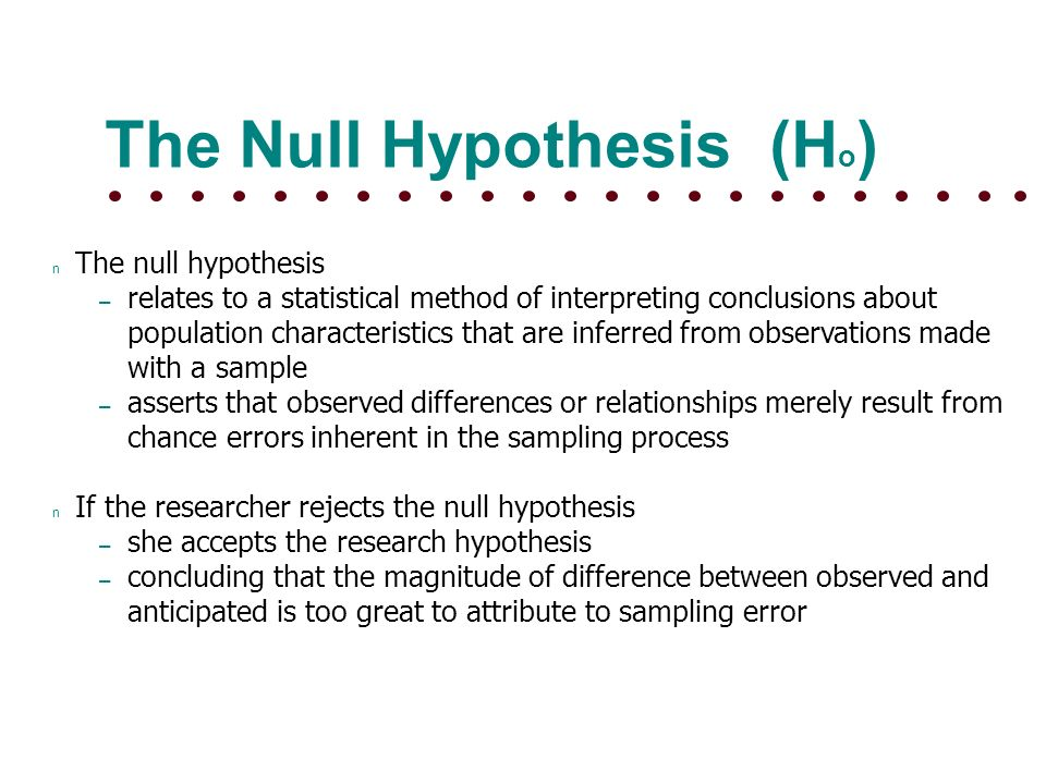 Case Study On Null Hypothesis Ucidelasabana