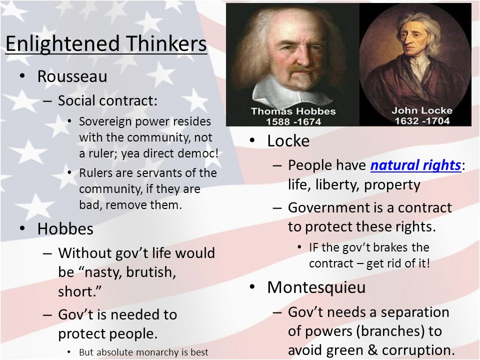 hobbes locke rousseau Social contract: social contract, in  rousseau, jean-jacques jean  especially those of the english philosophers thomas hobbes and john locke in.