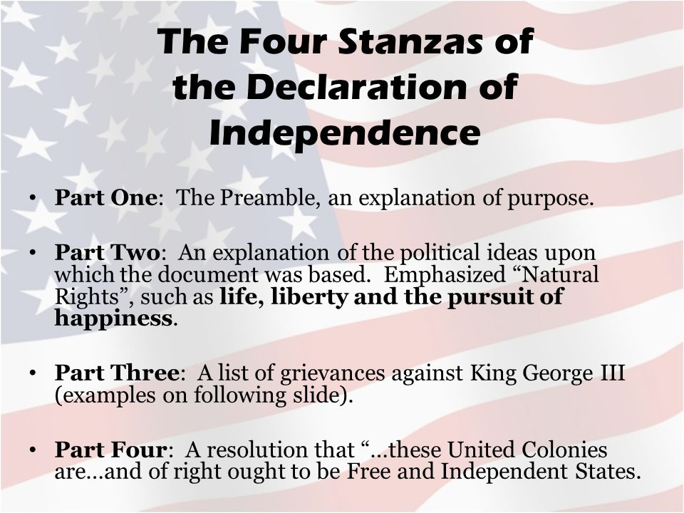 Second Section Of The Declaration Of Independence 28