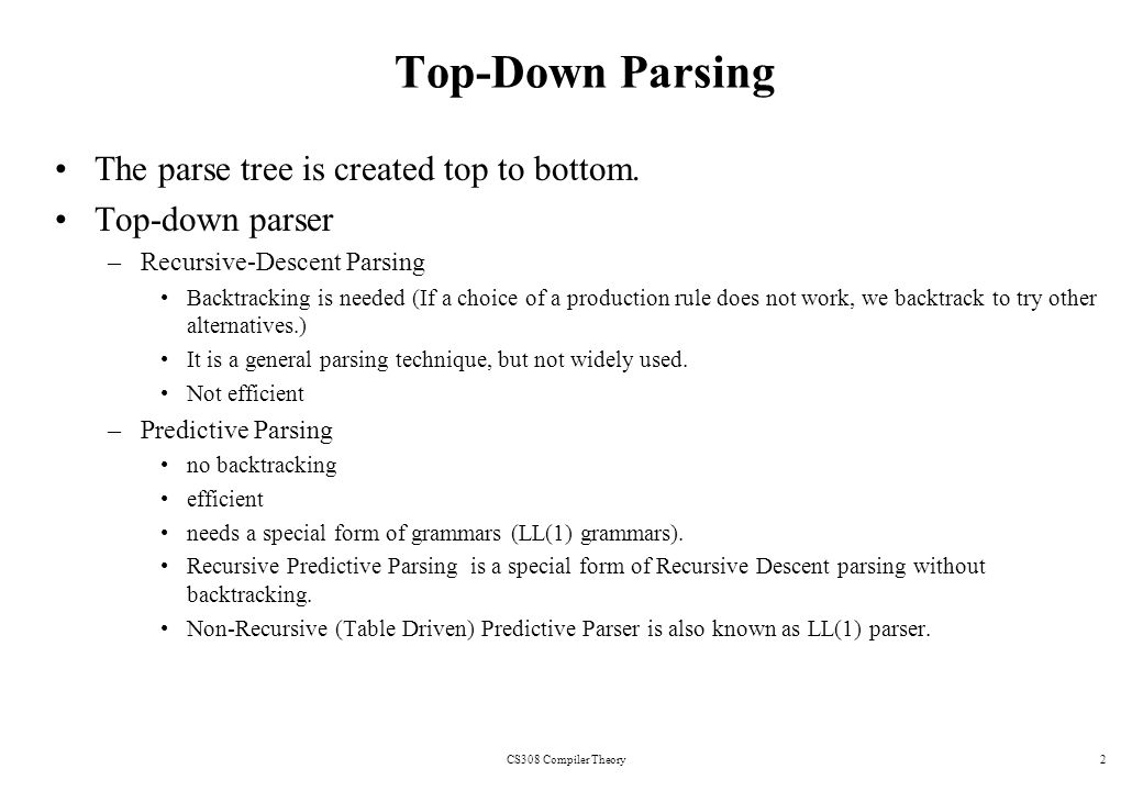 write a recursive descent parser for the following grammar rules