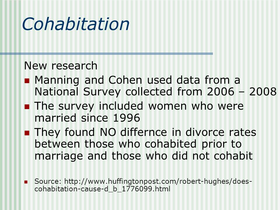 increasing divorce and cohabitation causes essay Strong essays: the reasons for changes in the divorce is the reality for many families as there is an increase in divorce rates, cohabitation.