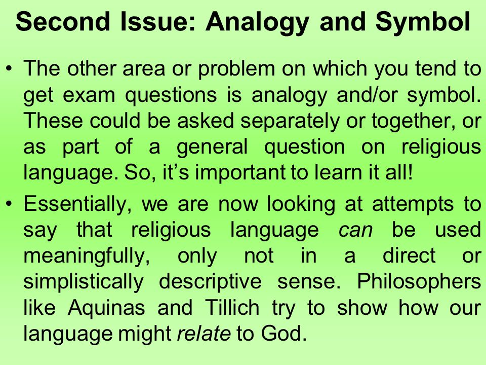 analogies human and god If god is transcendent, how can human beings speak meaningfully about him for centuries philosophers and theologians have asked whether and how it is possible to talk about god the shared answer to this question goes by the name of analogy, which recognizes both similarity and difference between the divine.