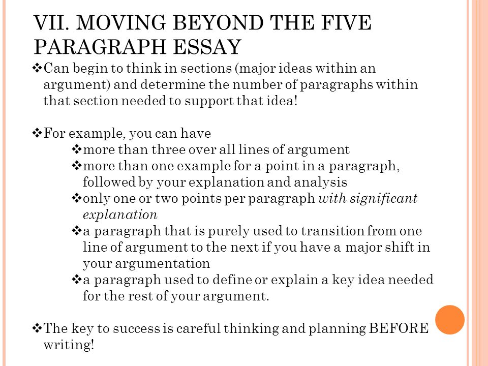 moving beyond the 5-paragraph essay View uwc_handouts_beyond5paragraph from english 1000 at missouri (mizzou) beyond high school writing: rethinking the 5-paragraph essay what is the 5-paragraph essay o introduction paragraph o 3.