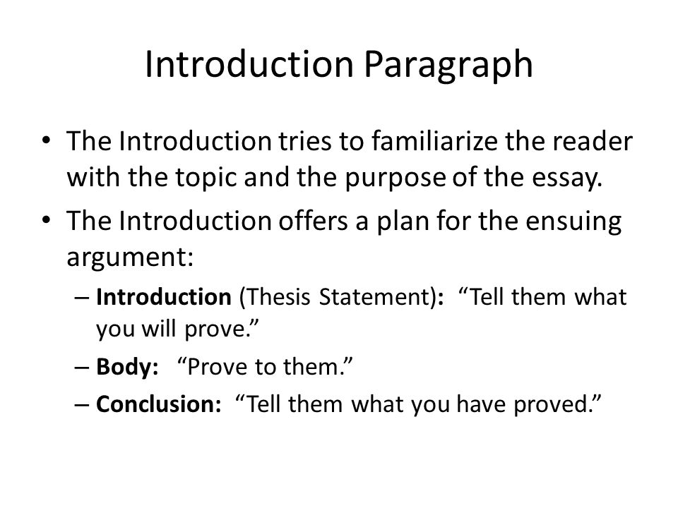 introduction thesis body argument support conclusion