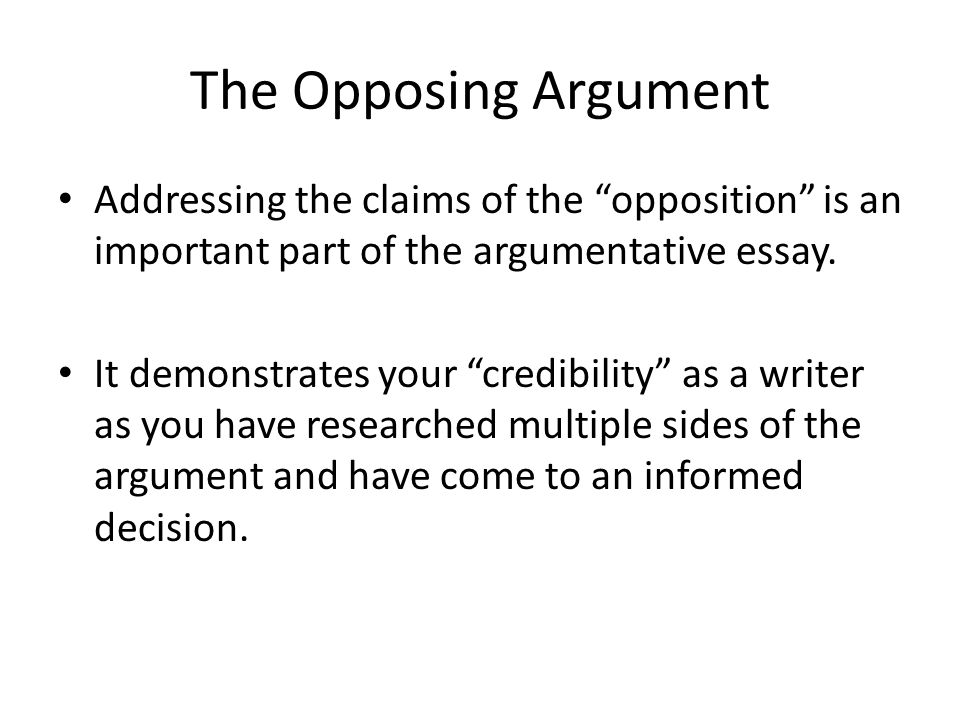 argumentative essay on the coming of Persuasive essay samples - page 2 since this is the most common type of essay, it is important to be familiar with its requirements and style check out our persuasive essay samples to get acquainted with this popular form of essay.