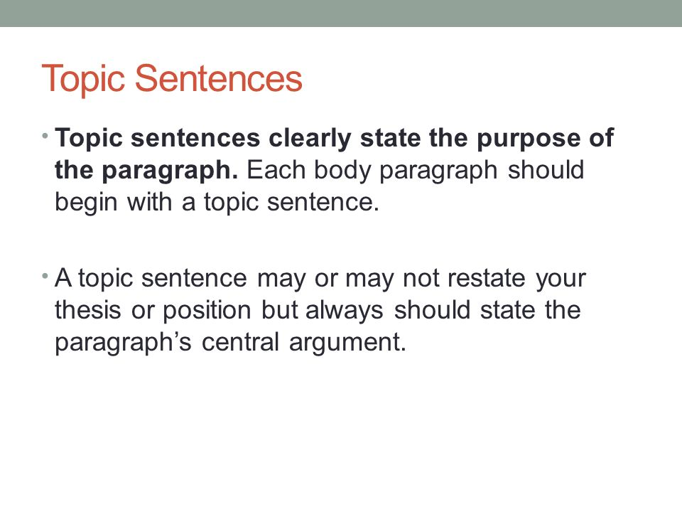 how to write a topic paragraph Examples of topic sentences and how to write them march 5, 2014 by april klazema miscommunication can be a big problem, whether you are trying to make a point in an academic paper or you are trying to send the right message in the workplace.