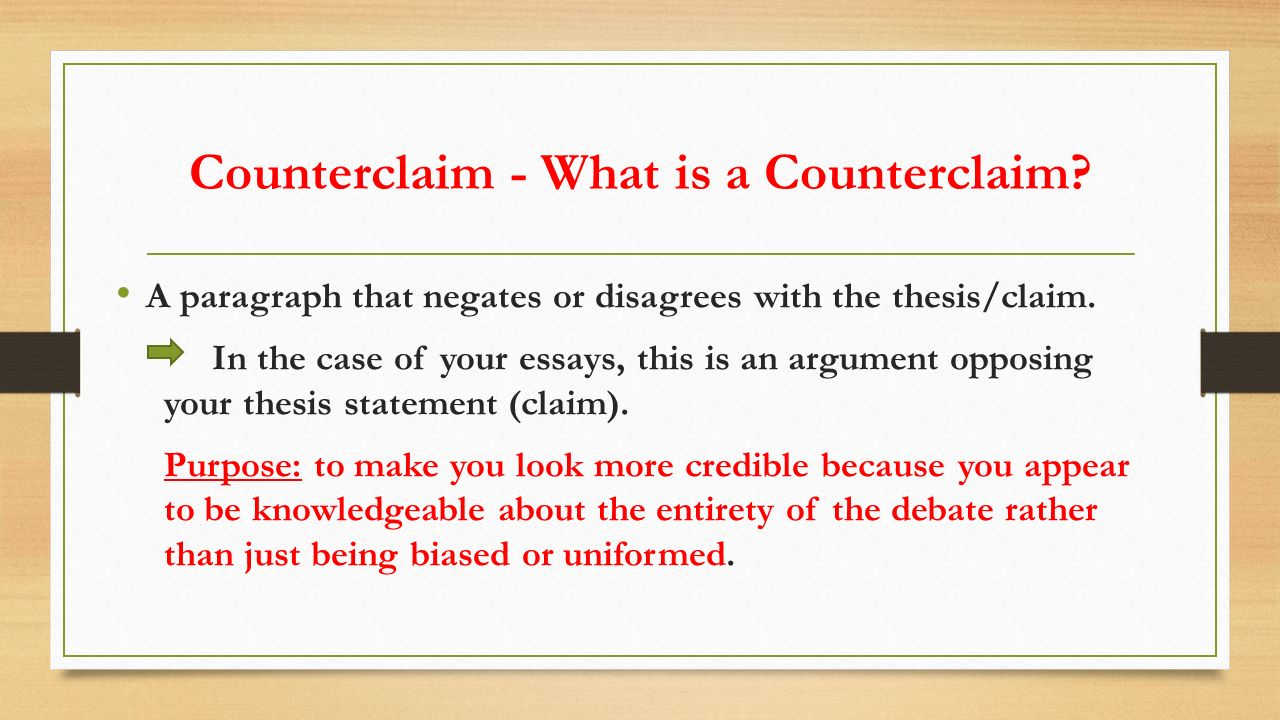 the odyssey argumentative essay ppt video online  5 counterclaim