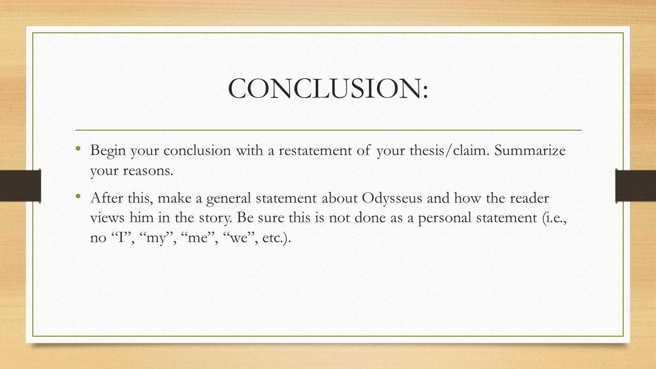 Any essays with good claim