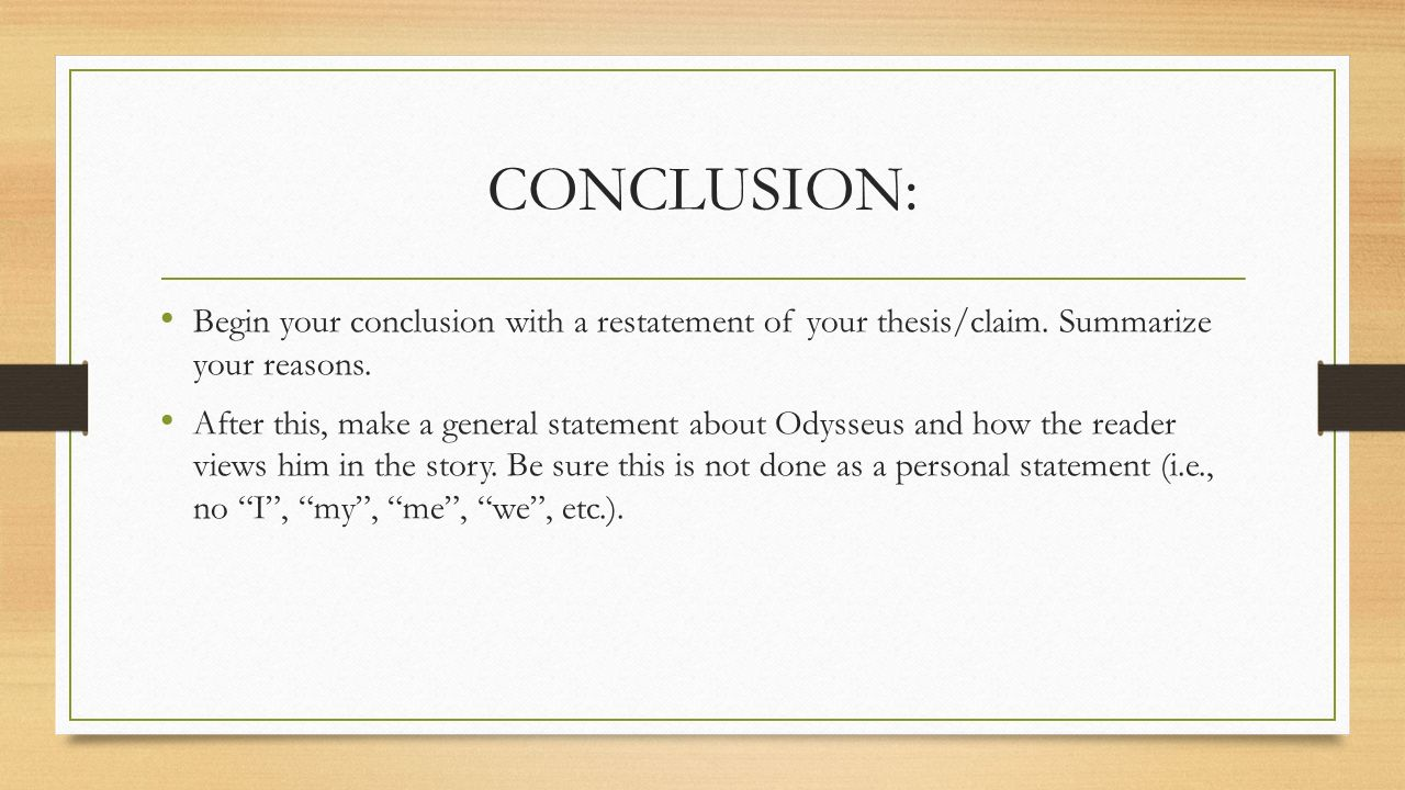 thesis essay on the odyssey The odyssey the odyssey introduction the odyssey is a story written in the ancient greek this story revolves around a hero known as odysseus and his journey back home after a war.