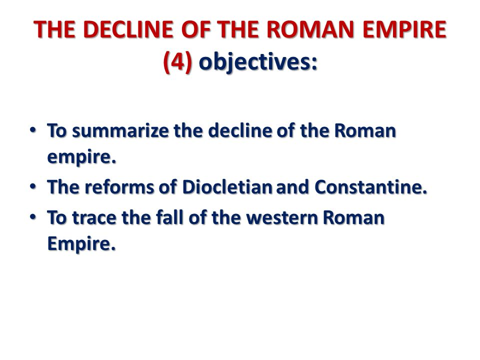 History of the Constitution of the Late Roman Empire