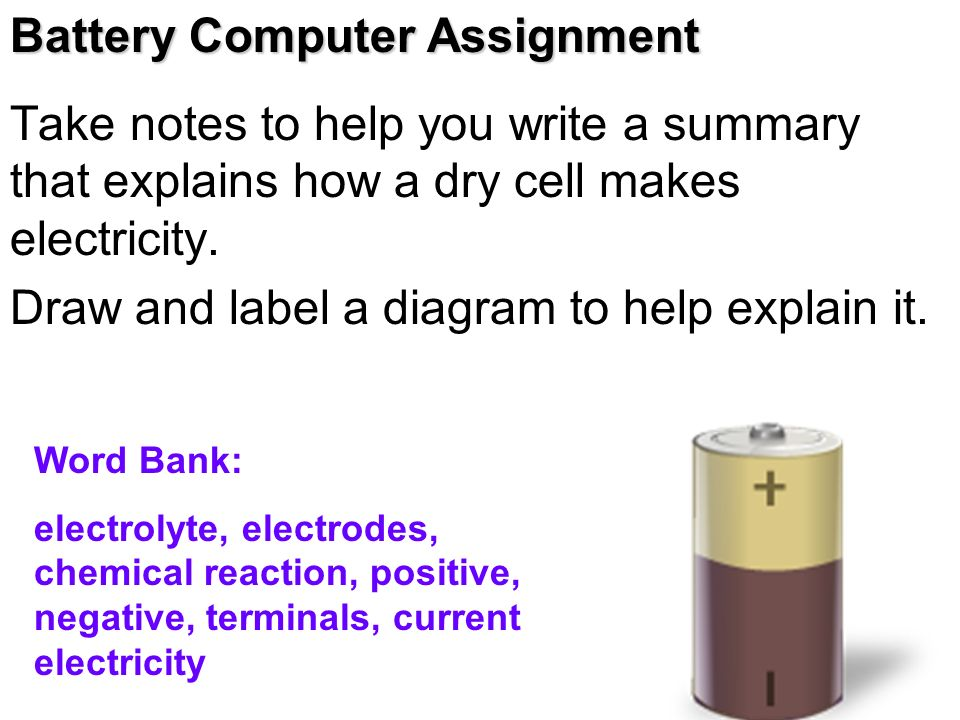 Battery Computer Assignment - ppt video online download