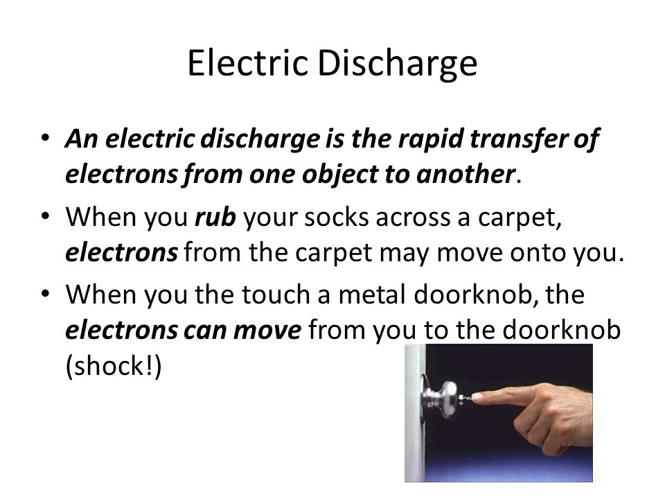 static electricity and discharges