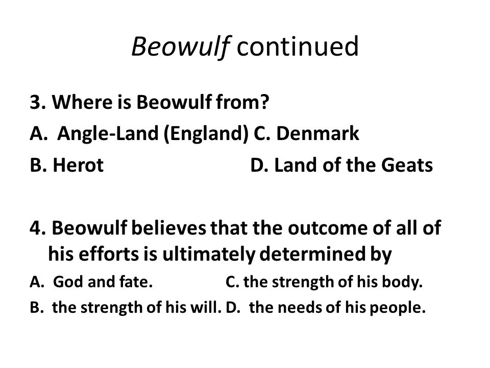 A comprehensive comparison of the canterbury tales and the epic of beowulf