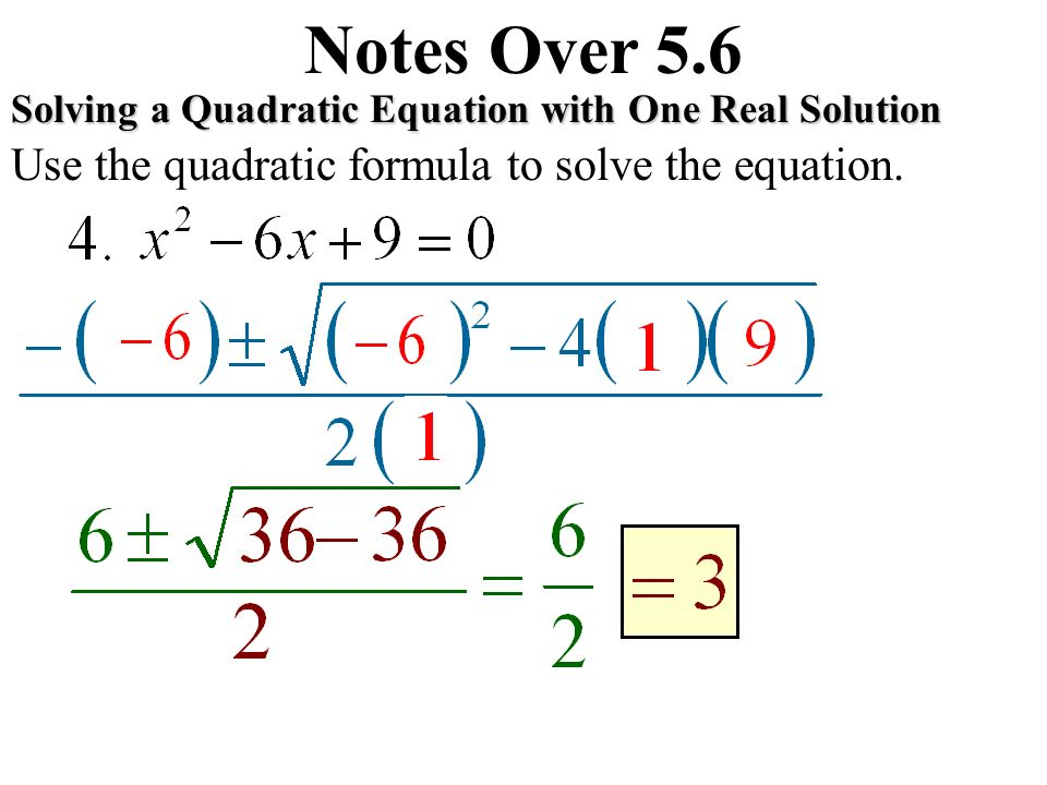 quadratic equation notes A guide to equations and inequalities teaching approach  of solving a quadratic equation involves isolating one of the variables in the linear equation.