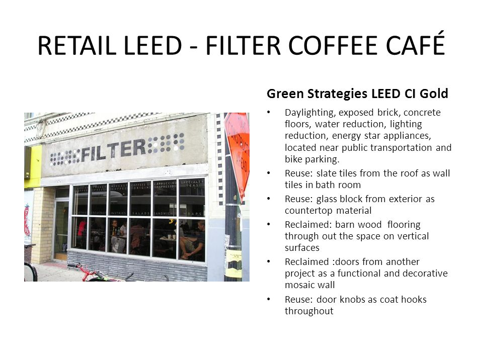 roof exterior cafe space leed leadership in energy environmental design ppt video