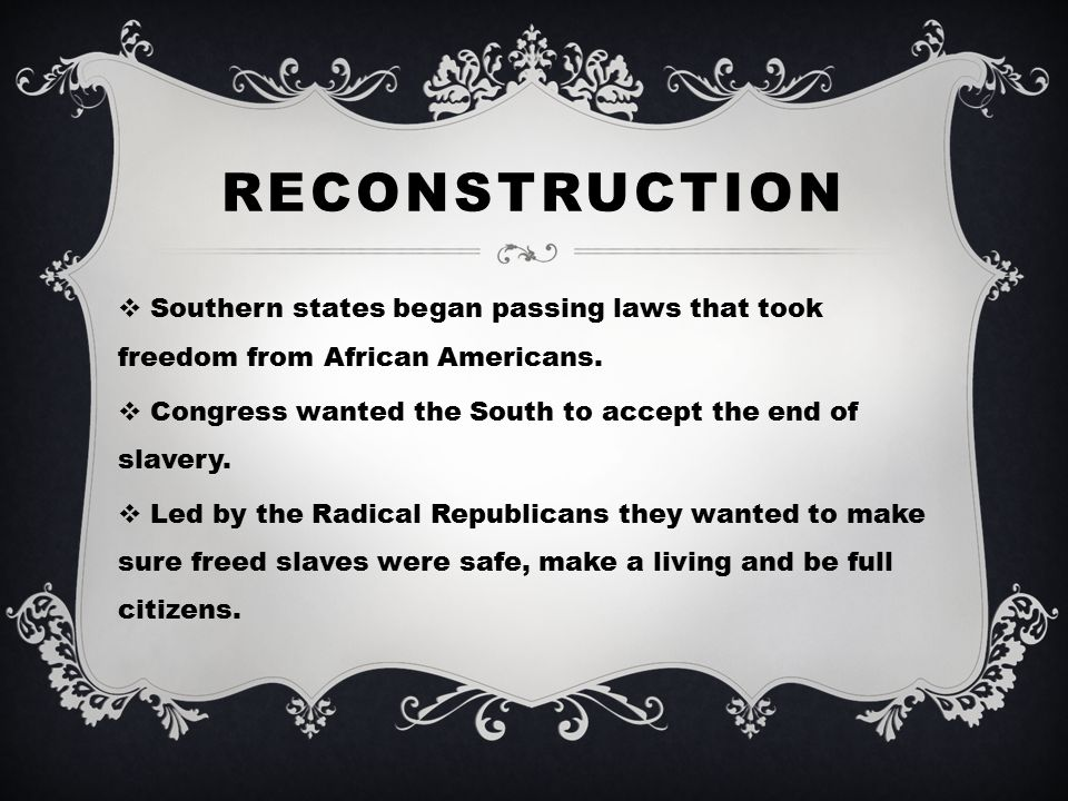 Reconstruction And The Birth Of Civil Rights Ppt Video