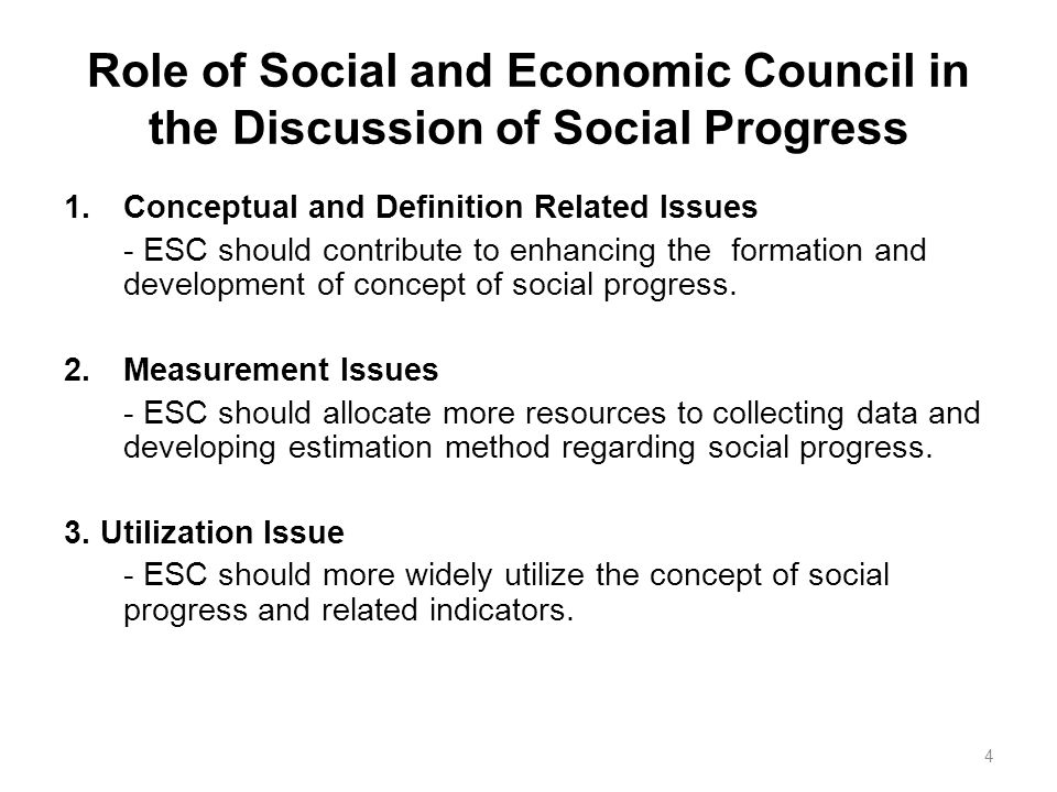 Issues related to social development in