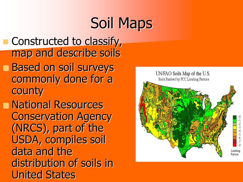 Types of maps chapter 3 section 3 ppt download for Describe soil