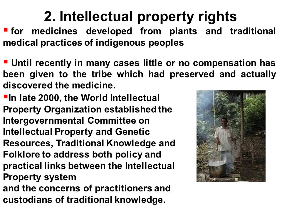 Intellectual property rights and traditional knowledge