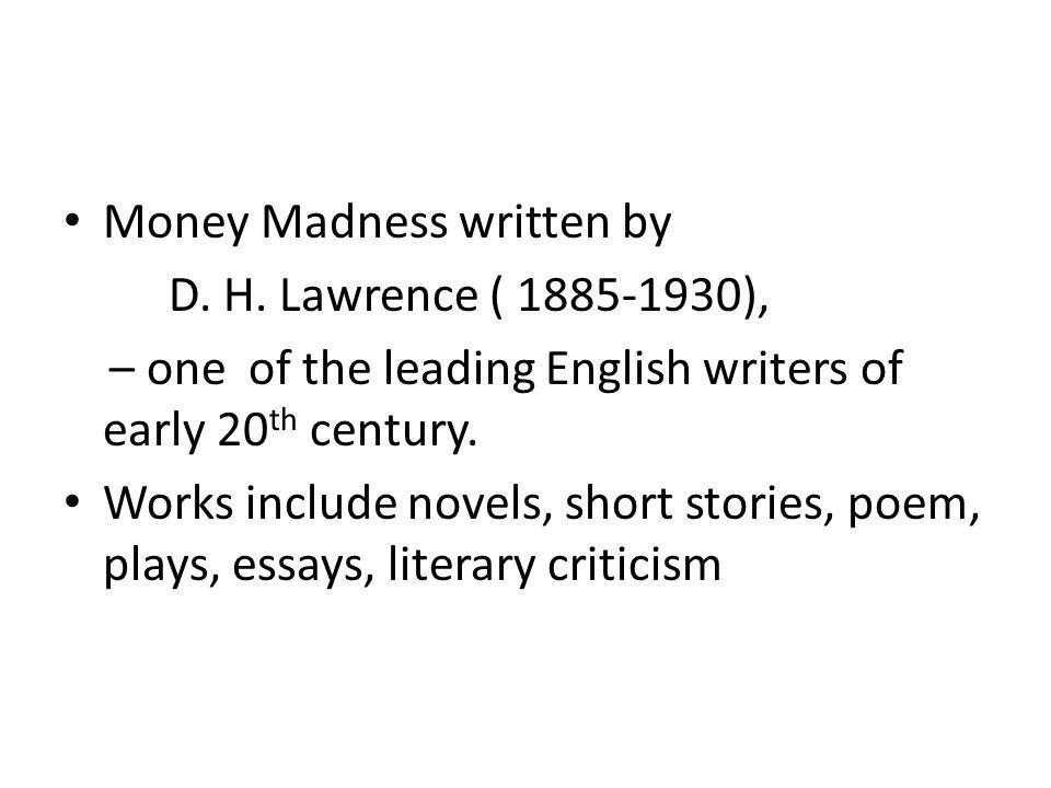 Money Madness written by