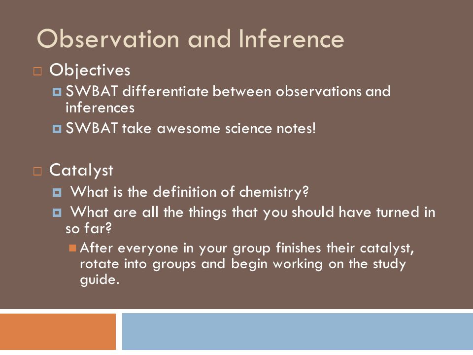 how to write science observations