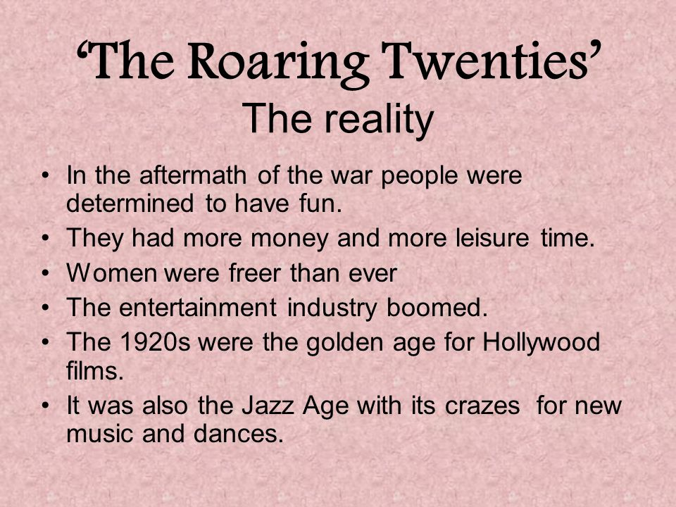 How far did society change in the 1920s ppt video online download – Roaring Twenties Worksheets