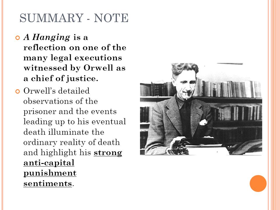 a hanging by george orwell How can the answer be improved.