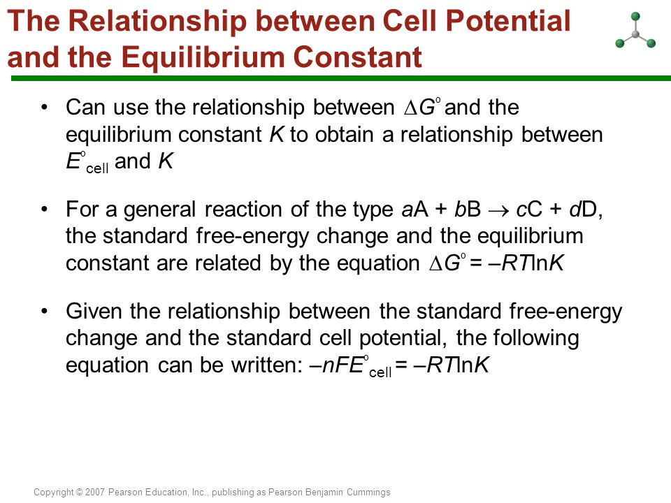 relationship between cell potential and concentration