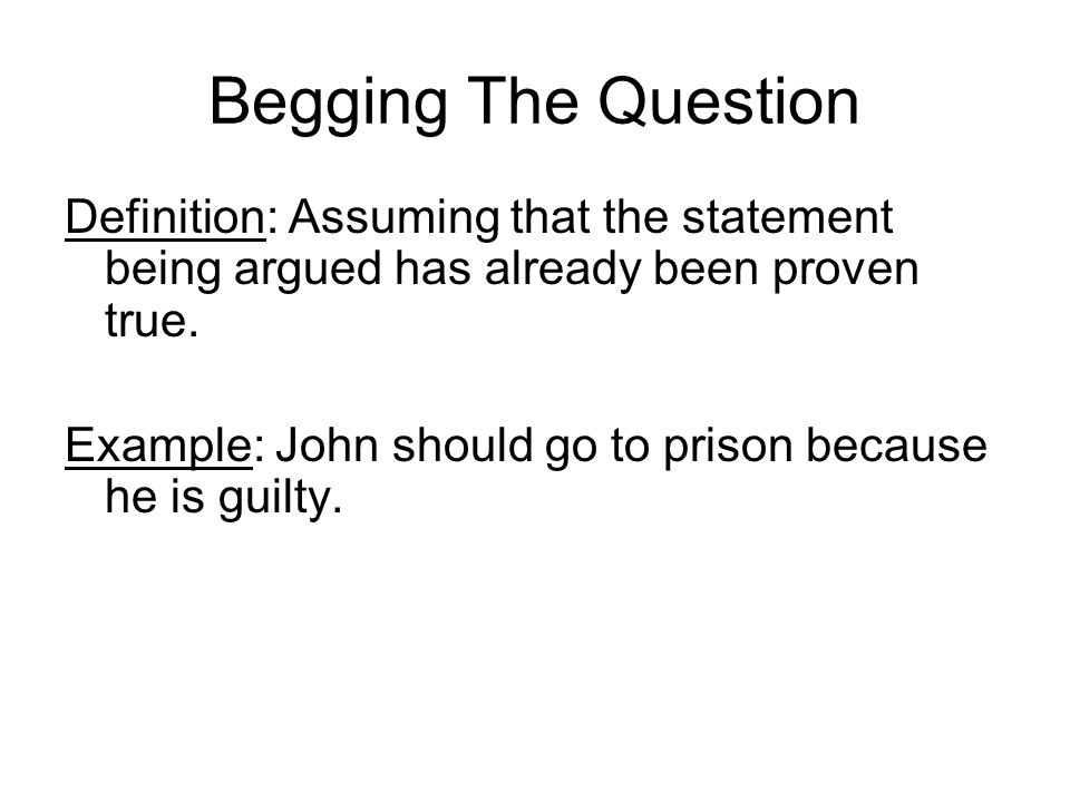 Fallacy An error of reasoning based on faulty use of evidence or ...