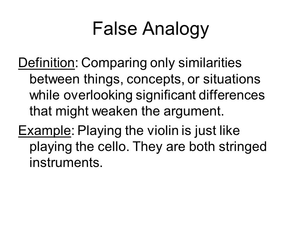 Fallacy An Error Of Reasoning Based On Faulty Use Of Evidence Or