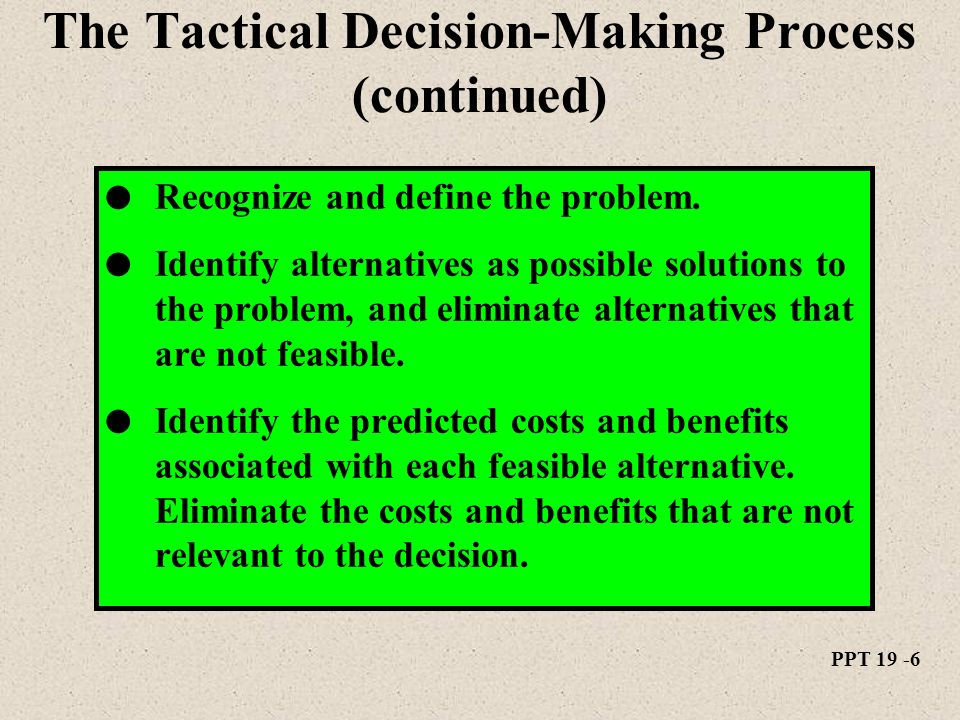 tactical decisions essay What are the differences and similarities between the tactical and strategic decisions you have made.