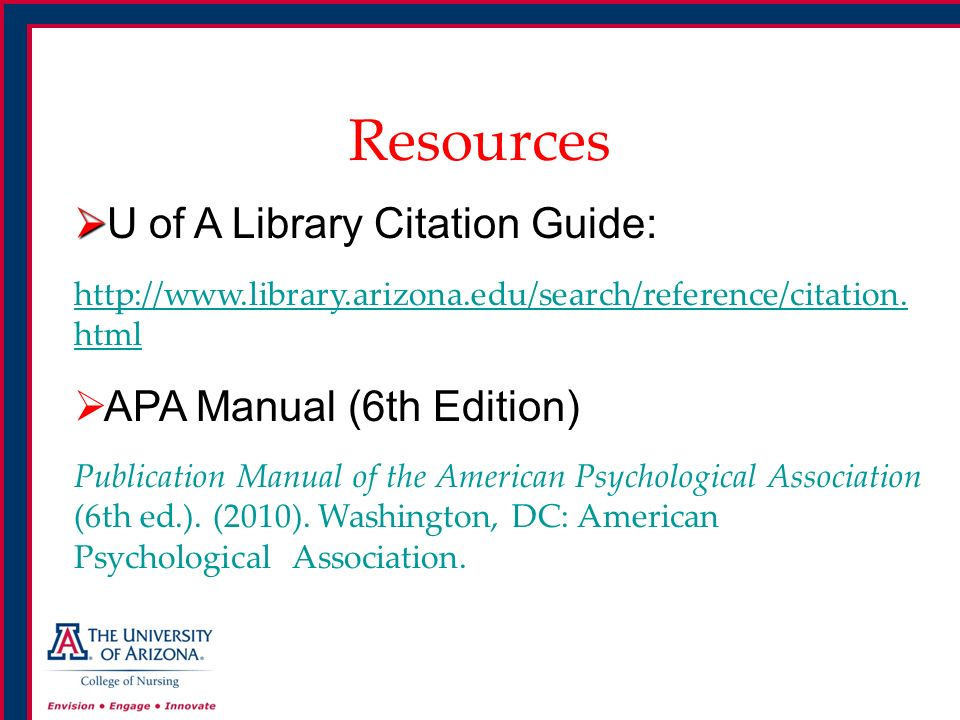 reference citations apa 6th edition guidelines