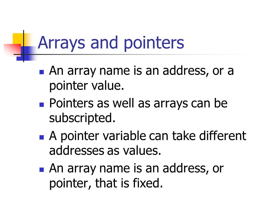 array of pointers in c pdf