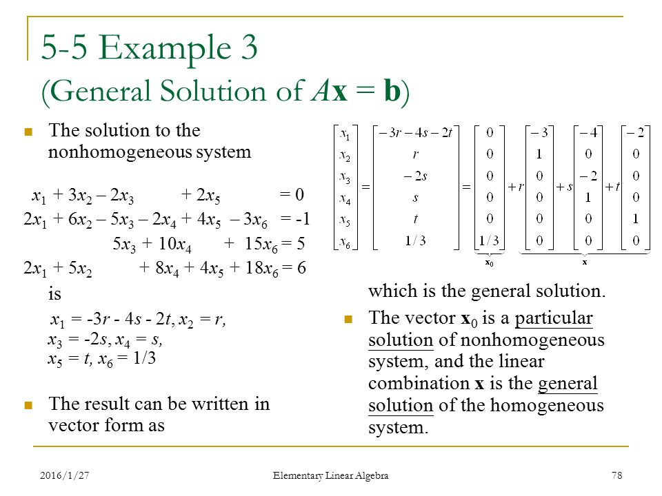 Elementary Linear Algebra Anton & Rorres, 9th Edition - ppt download